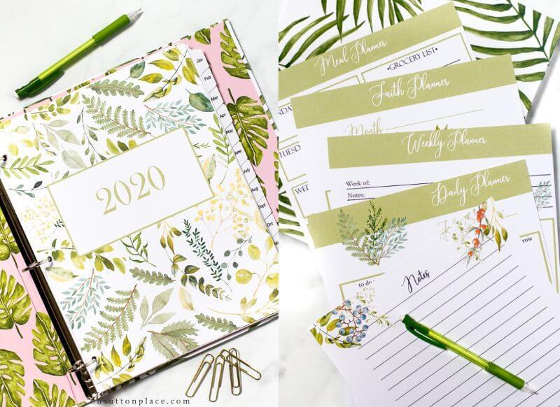 Leafy Calendar 2020 Designs - Free Printable