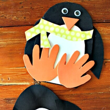 Foam based Penguin crafts Penguin Craft Ideas for Kids