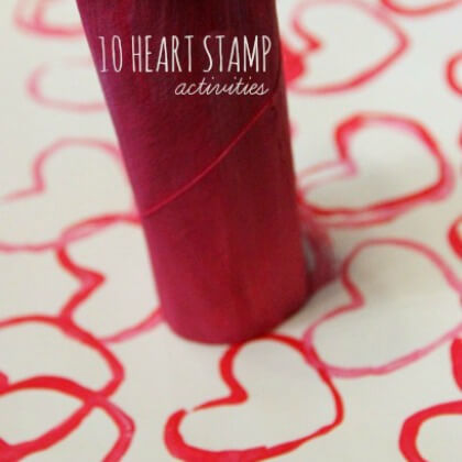 Cardboard Heart Stamps