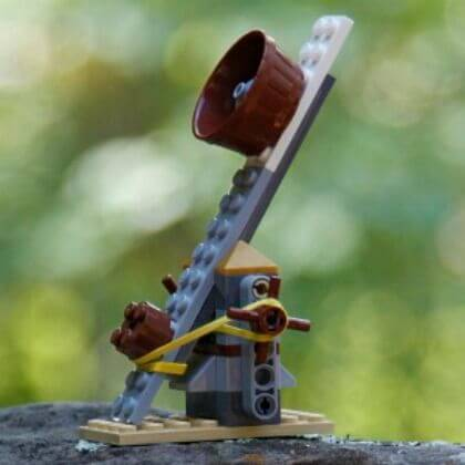 Catapult Activity for Kids: Building blocks