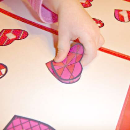 Beautiful Heart shaped designs Easy to Make File Folder Games for Kids