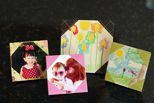 Easy Origami Paper Crafts For Kids (Step By Step Instructions) - Origami Picture Frames