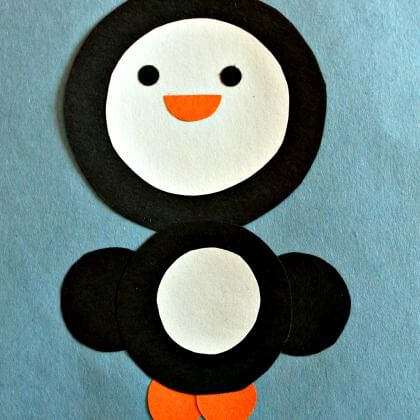Easy to make Penguin crafts with Circles Penguin Craft Ideas for Kids