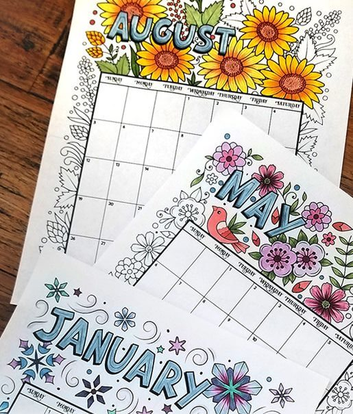 Colorful And Bright 2020 Calendar - Free Printable