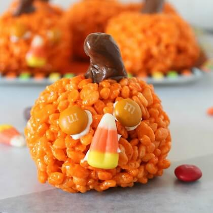 Halloween Pumpkin craft food DIY Fall Snacks for Kids