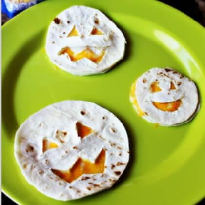 Tortilla Halloween food craft DIY Fall Snacks for Kids
