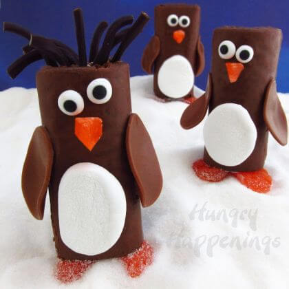 Edible cake Penguin crafts for kids Penguin Craft Ideas for Kids