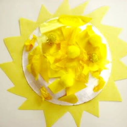 Large yellow sun Crafts for Toddlers Yellow Crafts for Toddlers