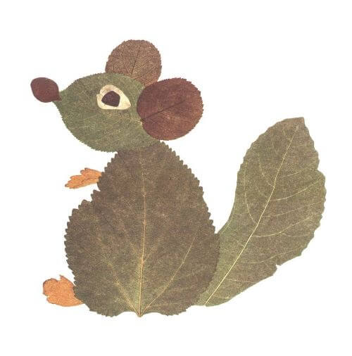 Making A Squirrel Out Of Leaves