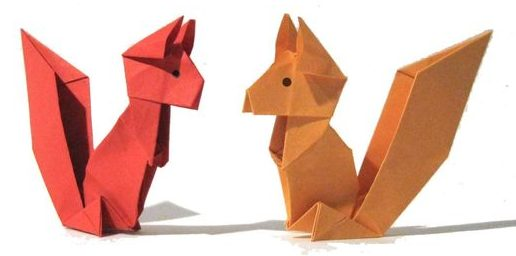 Origami Craft Squirrel