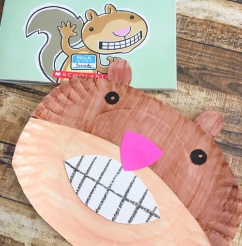 Making A Squirrel Using A Paper Plate