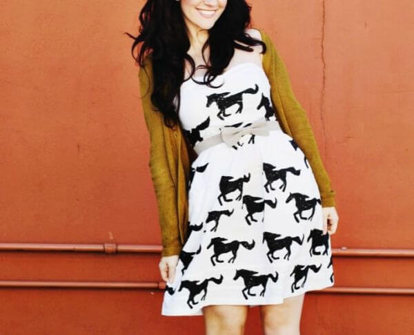 Horse Printed Dresses for Mothers