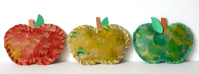 Easy paper Apple Crafts for Preschoolers