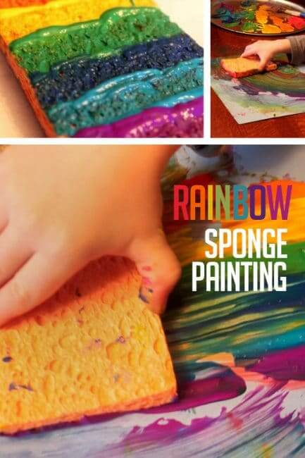 The Rainbow Sponge Bob Spring Projects for Kids - Art & Craft for Preschoolers