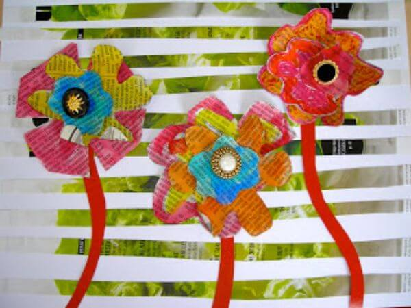 Flowers in full bloom for toddlers - Flower Art Projects for Kids