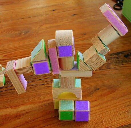 Colorful Wooden Block Activities