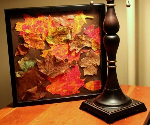 The picture perfect frame for your decor - Leaf Crafts for Preschoolers