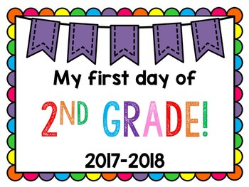 First Day Of School Poster for 2nd Grade
