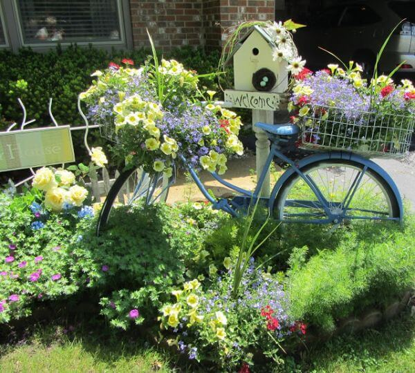 DIY Recycled Garden Art