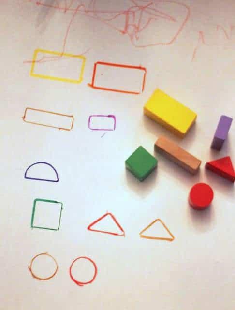 Tracing Shapes Wooden Block Activities