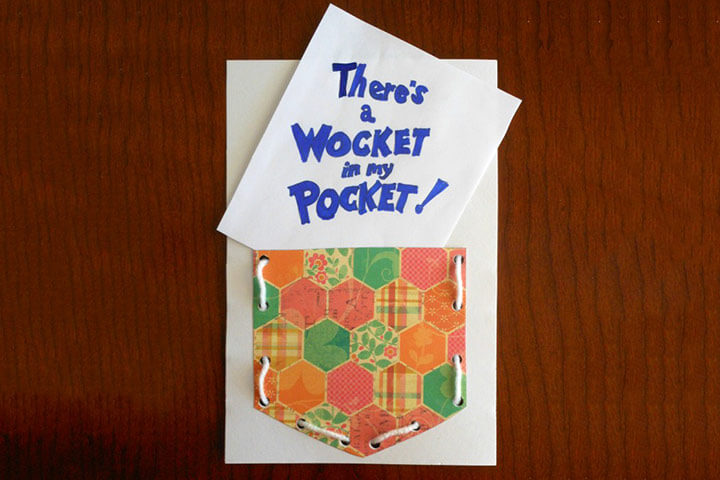 There's A Wocket In My Pocket Activity DR SEUSS CRAFT Activities FOR KIDS