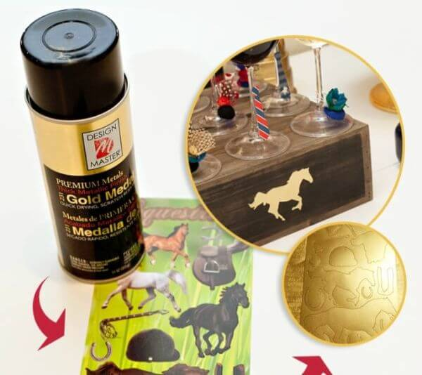 DIY Gold Horse Sticker - Adorable Horse Craft Ideas to Have Fun with toddlers, preschool kids