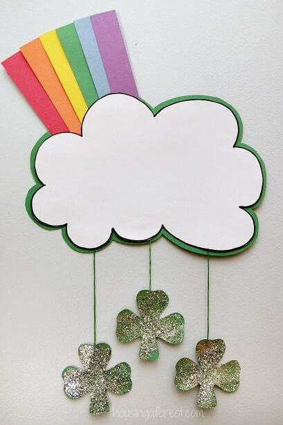 Shamrock rainbow crafts - St. Patrick's Day Crafts for prechool kids