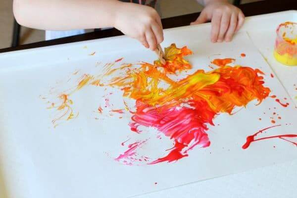Scribbles teach more than fine lines - Leaf Activities for Preschoolers