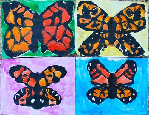 Symmetry and Monarch of a Butterfly Spring Projects for Kids - Art & Craft for Preschoolers