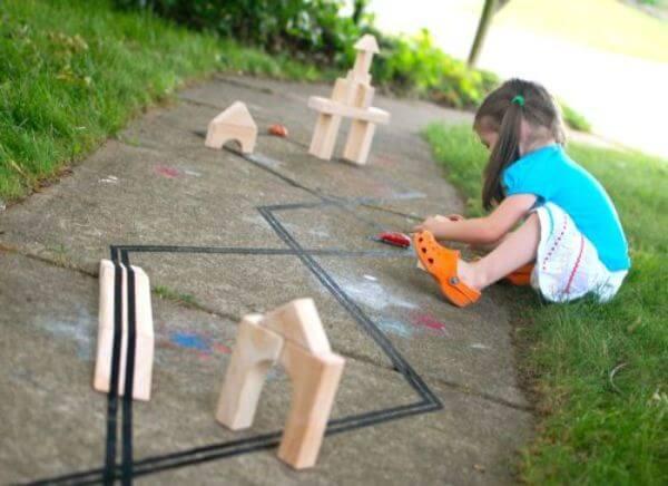 Track Fun Wooden Block Activities