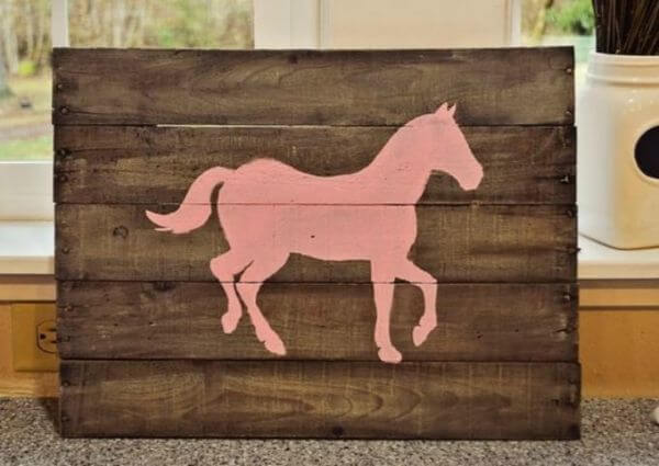 Wooden Moving Horse - Adorable Horse Craft Ideas to Have Fun with toddlers, preschool kids