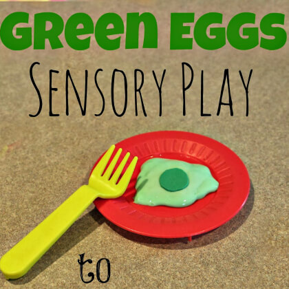 Make Green Eggs Sensory Play
