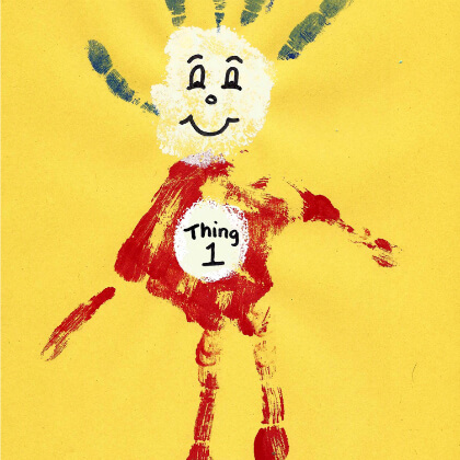 Dr. Seuss Thing 1 Hand Print Craft