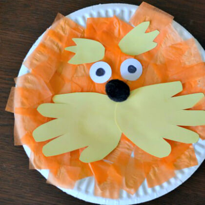 Simple And Cute Lorax Plate Activity For Preschool