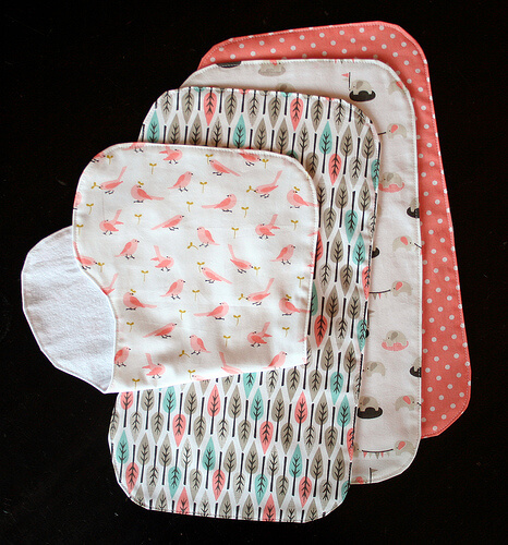 Absorbent Burp Cloths Simple Sewing Projects