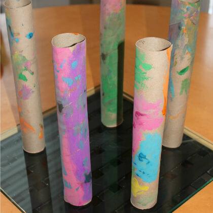 Make Cardboard Pillars Craft