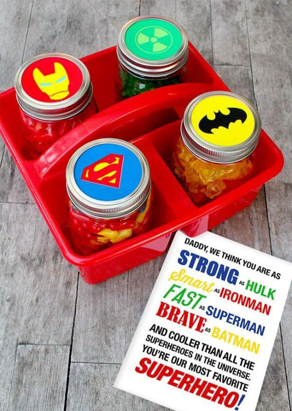 Easy Father's Day Superhero Gifts