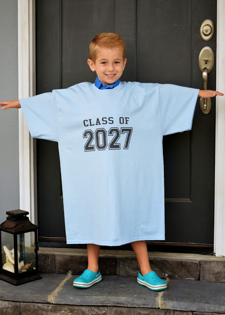 Loose And Classy T-Shirt First Day of School Photo Ideas for Children