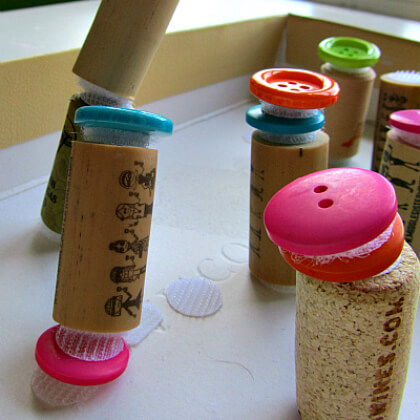 Adorable Button And Cork Builders For Kids DR SEUSS CRAFT Activities FOR KIDS