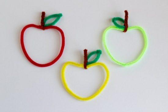 Pine Cleaner Apple Craft for Kindergarten