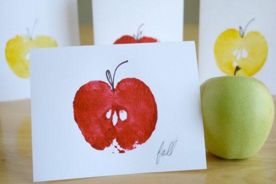 Apple Printed Card For Kindergarten Kids