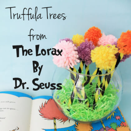 Simple Truffula Tree Forest DR SEUSS CRAFT Activities FOR KIDS