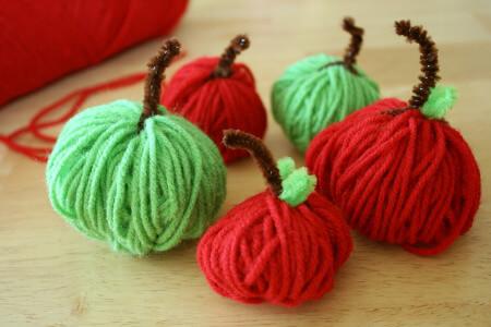 DIY Adorable Apple Yarn Activity for Preschoolers