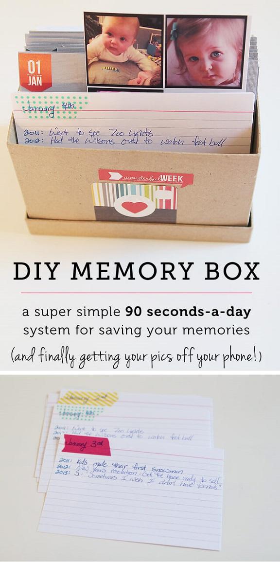 DIY Memory Box