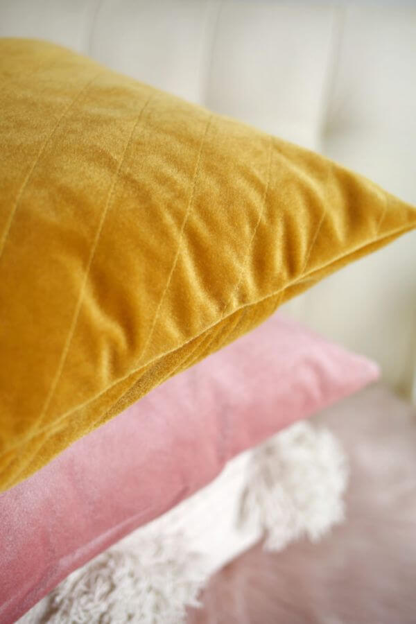 Quilted Velvet Pillow for Drawing Room Easy & Creative DIY Pillow Making Ideas & Tutorials at home