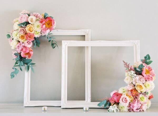 Photo Booth Ideas - Unique Floral Wedding Decor Ideas for Outdoor & Indoor