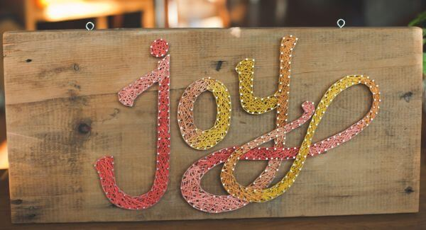 Joy String Art DIY String Art Ideas for Home Decoration