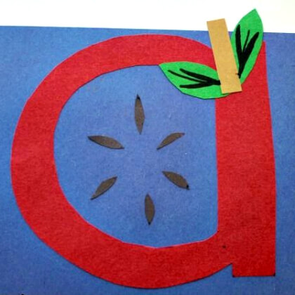 A For Apple Craft for Preschoolers