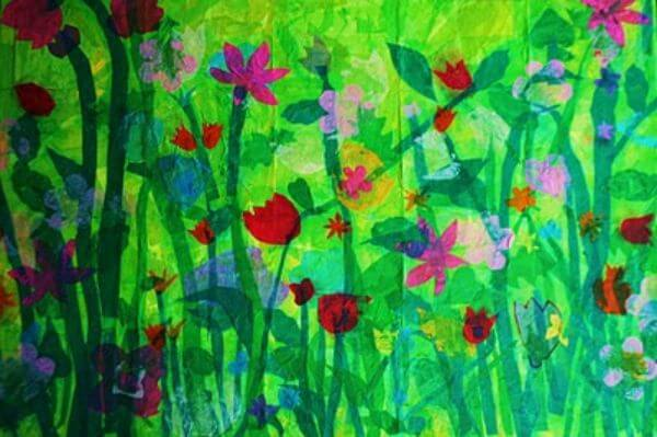 Spring art idea for teachers to make with students