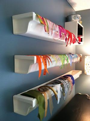 Hanging kaleidoscope Ribbon Storage Ideas